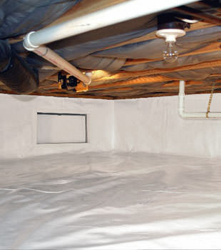 A complete crawl space repair system in Staten Island