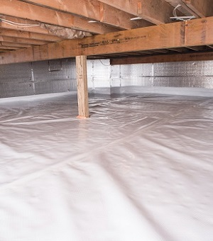 Installed crawl space insulation in Bayside