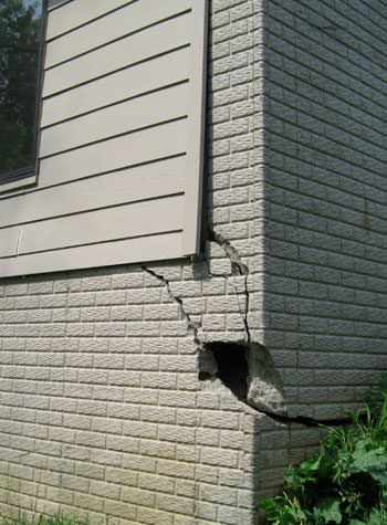 severe cracking of structural walls in Ridgewood