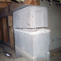 Collapsing crawl space support pillars Maspeth