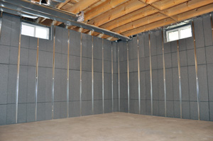 Insulating and finishing basement walls in New York City