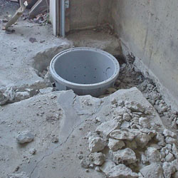 Placing a sump pit in a Far Rockaway home