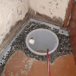 Installing a sump in a sump pump liner in a Bronx home