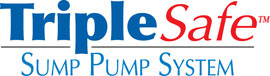 Sump pump system logo for our TripleSafe™, available in areas like Howard Beach