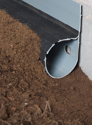 crawl space drain system installed in Rosedale